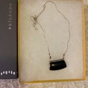 Silpada Sterling Silver and Black Onyx Necklace